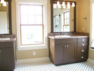 现代简约风格卧室三层连体别墅唯美明珠梳妆台图片