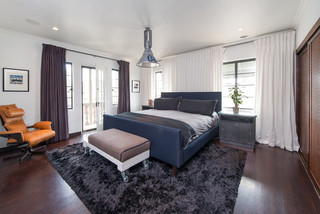 现代简约风格厨房精装公寓简单温馨卧室床头效果图