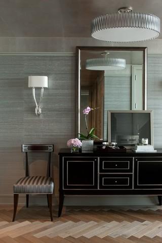 现代简约风格客厅酒店公寓另类卧室明珠梳妆台效果图