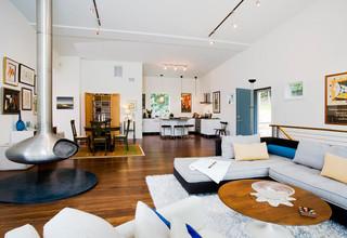 现代简约风格卫生间2层别墅低调奢华大理石餐桌图片