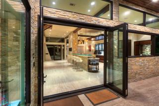 现代简约风格客厅三层半别墅唯美阳台窗户效果图