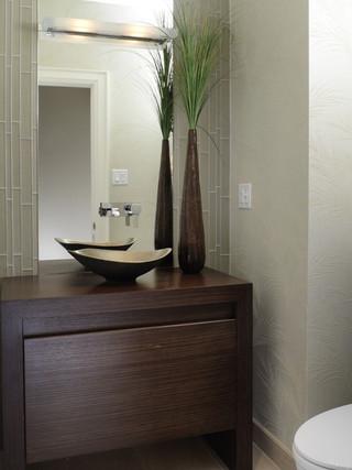 房间欧式风格老年公寓现代奢华一体式台盆图片