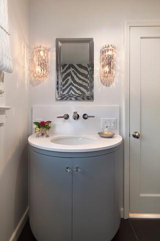 现代简约风格客厅舒适3平方厨房一体式台盆图片