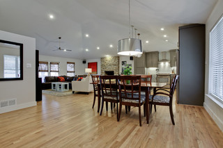 现代简约风格小型公寓时尚简约客厅厨房餐厅一体装修