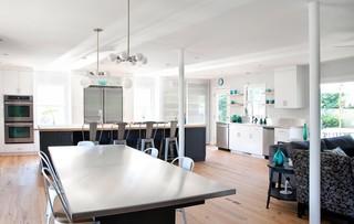 现代简约风格小型公寓实用卧室开放式厨房客厅装修