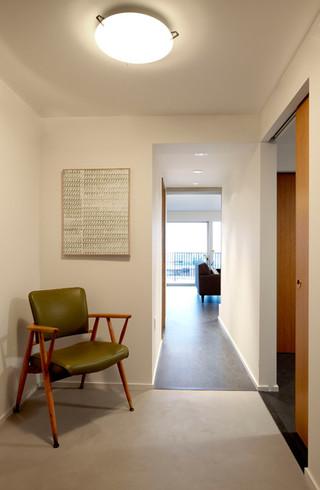 欧式简约风格公寓时尚客厅玄关过道吊顶装修图片