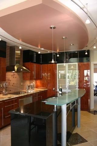 地中海风格室内300平别墅大气开放式厨房餐厅装修效果图