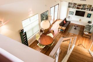 现代东南亚风格三层双拼别墅时尚家居12平米客厅装修效果图