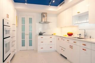 现代简约风格客厅公寓白色欧式2012家装厨房装修