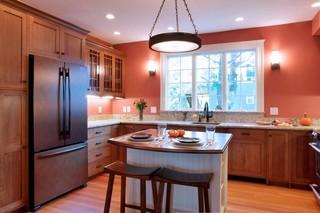 复式公寓温馨暖色调5平方厨房效果图