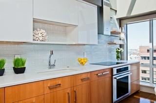 现代美式风格loft公寓阳台实用3平米厨房装潢