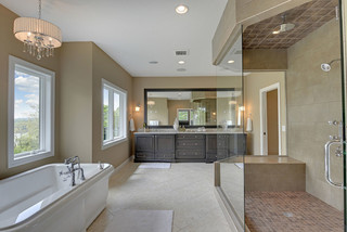 现代简约风格卧室小型公寓大气品牌按摩浴缸效果图