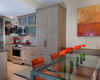 现代简约风格餐厅艺术2013整体厨房快餐桌图片