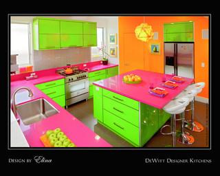 现代简约风格厨房艺术2013整体厨房中式餐桌效果图
