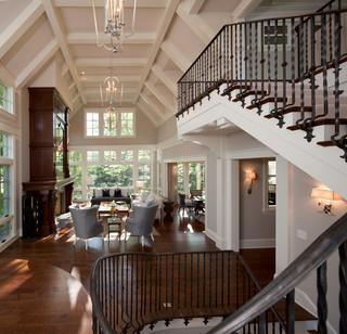 现代欧式风格一层半别墅艺术家具室内窗户图片