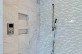 现代简约风格厨房一层别墅及小清新卫生间淋浴房设计图