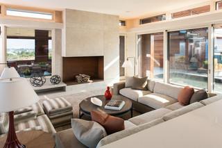 现代简约风格卧室三层连体别墅温馨客厅懒人沙发效果图