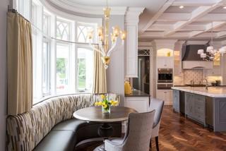 欧式风格客厅三层半别墅现代奢华家庭餐桌效果图