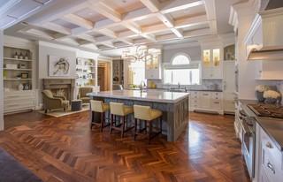 现代欧式风格三层别墅欧式奢华中式餐桌效果图