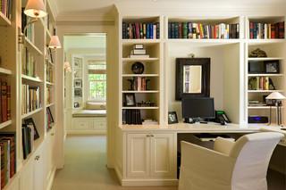 新古典风格客厅2层别墅低调奢华装饰书架图片