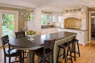 现代简约风格餐厅一层别墅及大气红木餐桌图片
