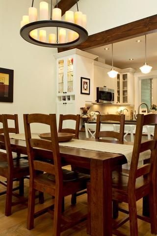 新古典风格2013别墅及现代奢华实木圆餐桌图片