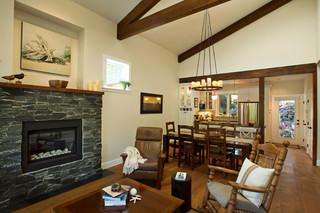 新古典风格2层别墅奢华实木圆餐桌图片