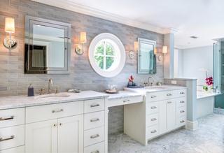 现代简约风格客厅三层连体别墅大气品牌浴室柜效果图