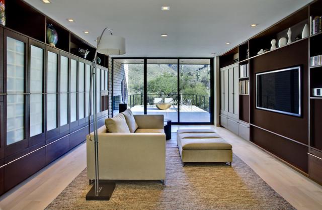 现代简约风格客厅三层独栋别墅温馨真皮沙发图片