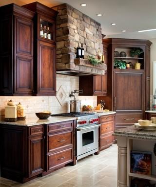 新古典风格低调奢华2013家装厨房橱柜设计图