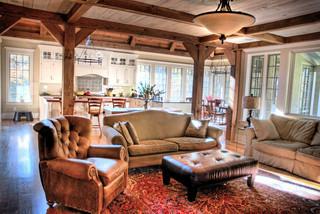 新古典风格卧室3层别墅唯美真皮沙发效果图
