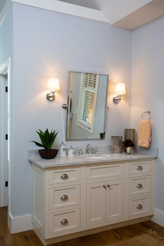 现代欧式风格三层别墅奢华浴室柜效果图