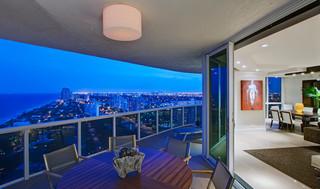 现代简约风格厨房三层小别墅低调奢华室内窗户效果图