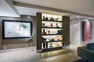现代简约风格厨房一层别墅现代奢华玄关柜效果图