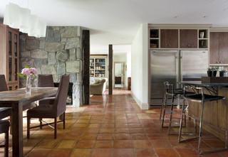现代简约风格卫生间三层别墅大气红木家具餐桌效果图