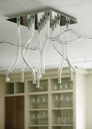 现代简约风格厨房三层别墅大气飞利浦吸顶灯图片