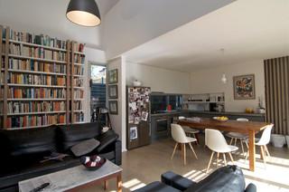 新古典风格一层半小别墅大气装饰书架效果图