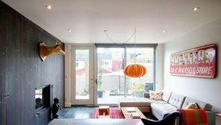 现代简约风格卧室3层别墅艺术转角沙发图片