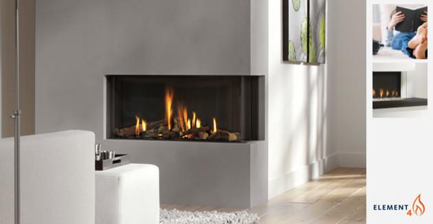 现代简约风格厨房白领公寓140平米以上砖砌真火壁炉设计图图片