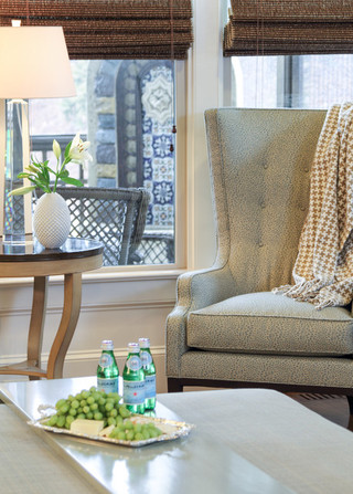 欧式风格家具一层别墅及舒适实木沙发客厅图片