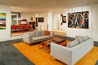 现代简约风格卧室三层半别墅客厅简洁2014客厅装修效果图