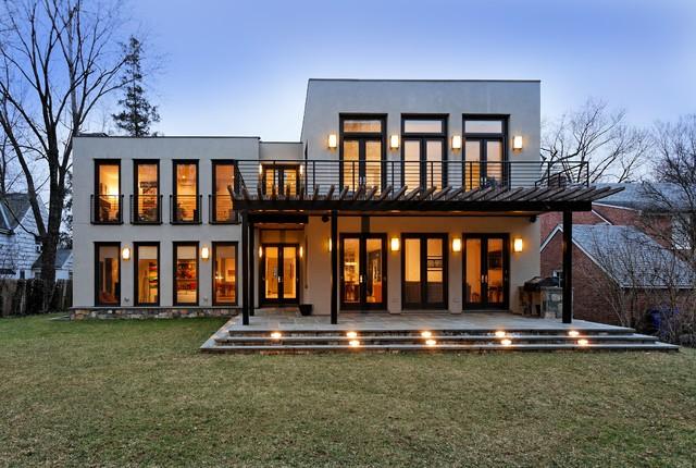 现代简约风格客厅三层半别墅设计图