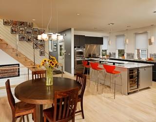 现代简约风格厨房200平米别墅现代简洁红木餐桌效果图