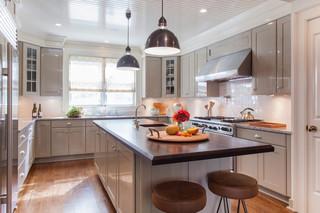 欧式风格客厅一层别墅现代简洁欧式开放式厨房装潢