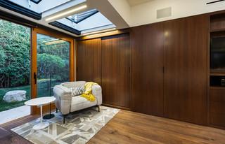 现代美式风格一层别墅及时尚室内品牌布艺沙发图片