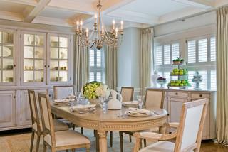 欧式风格2层别墅大方简洁客厅厨房餐厅一体装修效果图