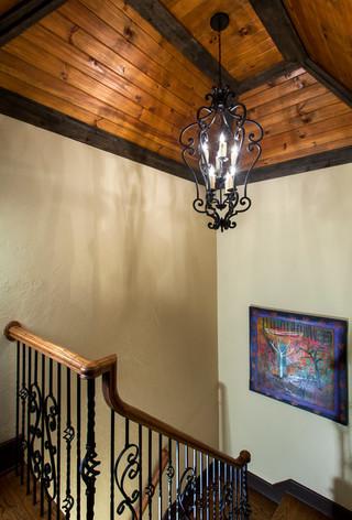 美式风格卧室2层别墅简洁卧室住宅楼梯设计图装修图片