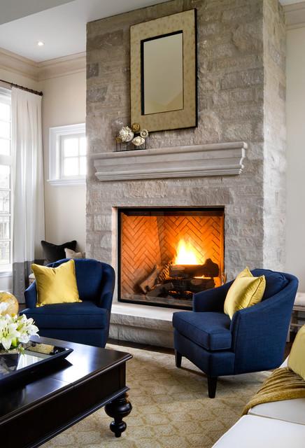 现代简约风格客厅三层别墅及浮雕背景墙设计