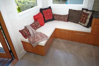 美式风格客厅三层别墅现代简洁转角沙发图片