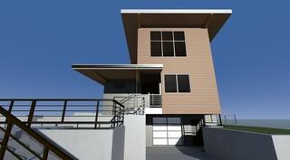 现代美式风格2层别墅平面图